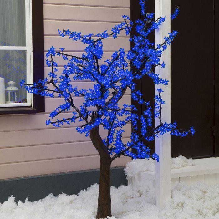 """Дерево светодиодное улич. 1,8 м. """"Сакура"""" 768Led, 46W, 220V Синий"""