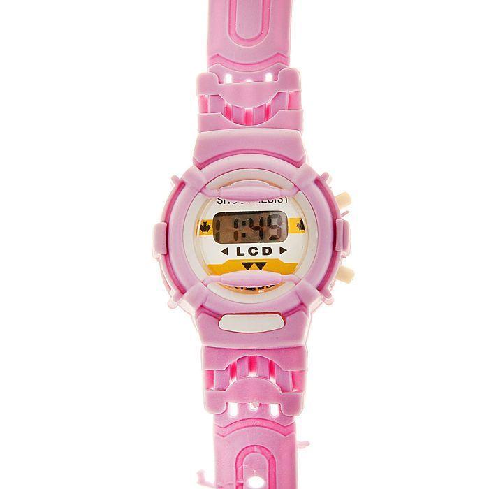 Часы наручные детские с силиконовым ремешком, циферблат круг22.5х4.5х1 см