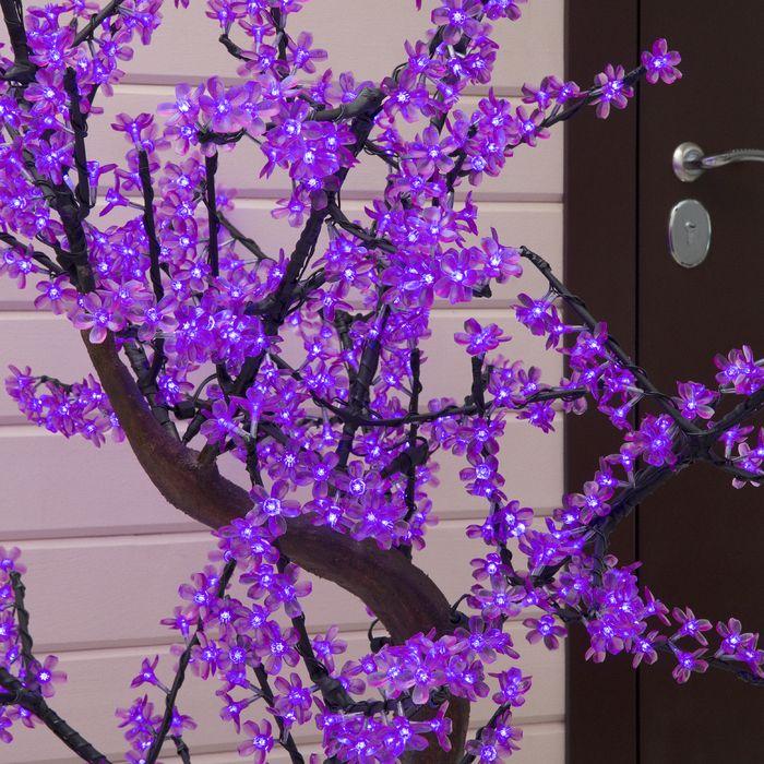 "Дерево светодиодное улич. 1,8 м. ""Сакура"" 768Led, 46W, 220V Фиолетовый"
