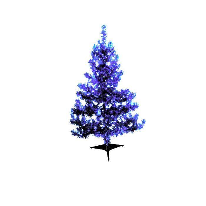 Новогодняя елка из фольги, синяя, 120 см