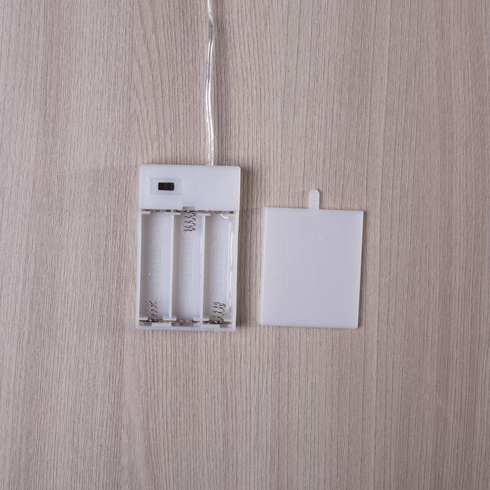 "Фигура деревянная ""Звезда из веток"", 30х30х5 см, 3*AА (не в компл.) 8 LED, коричневая"