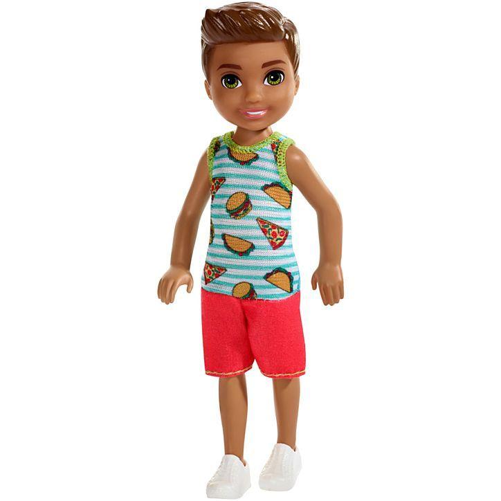 """Кукла Барби """"Клуб Челси"""" - Мальчик в яркой майке, 13.5 см"""