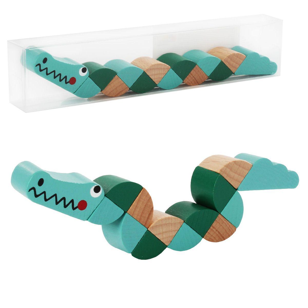Деревянная игрушка Игра-змейка, 19.5*3.5*2см