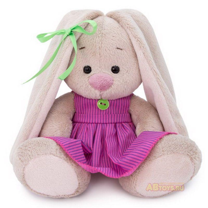 Зайка Ми в розовом платье в полоску (малыш)