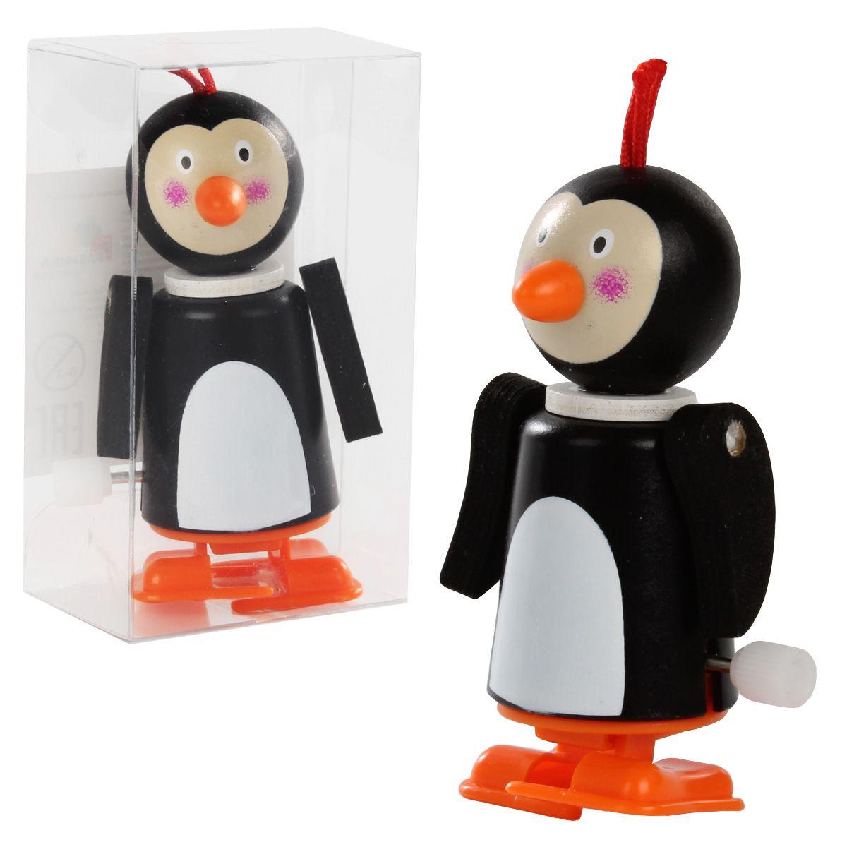 """Заводная игрушка """"Забавный пингвин"""" из дерева"""