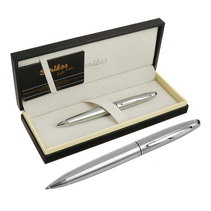 Ручка шариковая подарочная Scrikss Knight 88, поворотная, в чёрном футляре