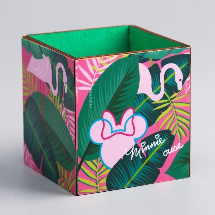 """Органайзер для канцелярии """"Минни с фламинго"""", Минни Маус, 65 х 70 х 65 мм"""