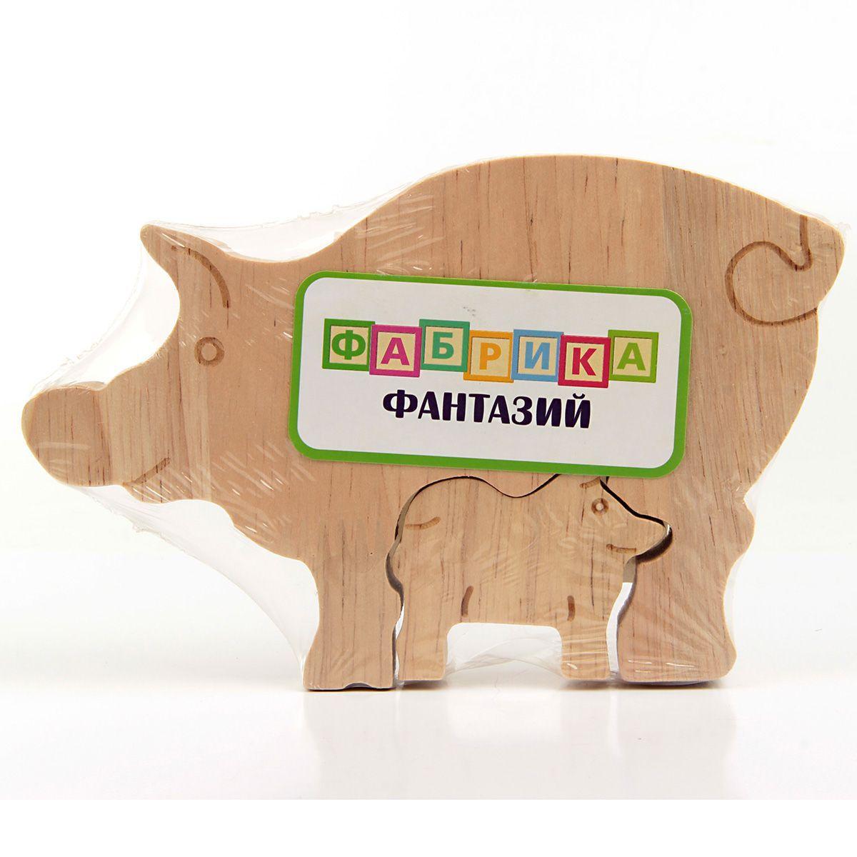 """Деревянная игрушка фигурки животных """"Чей малыш"""""""