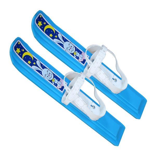 """Мини-лыжи """"Юниор"""" - Зайчик, голубые"""