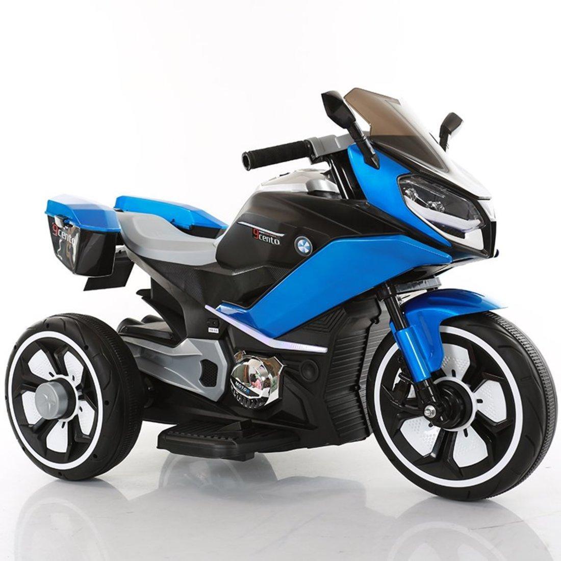 Детский техколесный гоночный мотоцикл с музыкой и светом