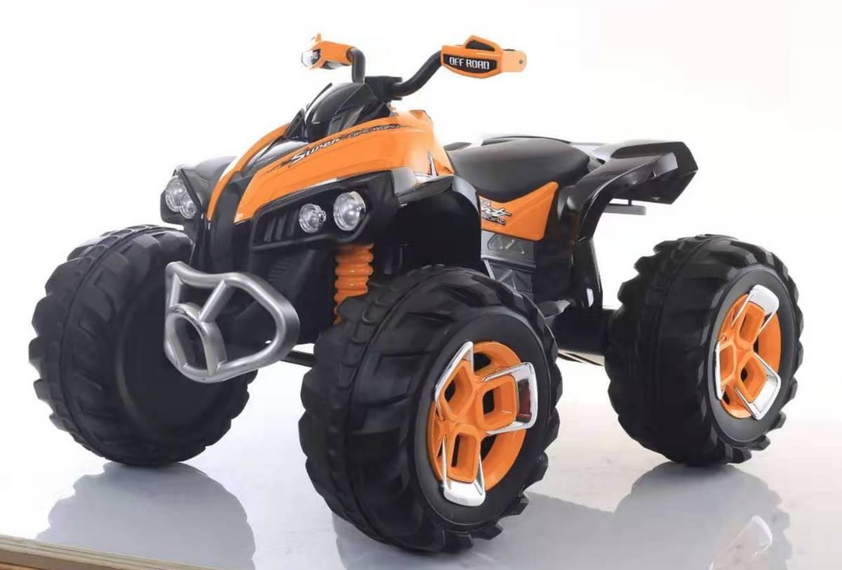 "Электромобиль ""Квадроцикл"" (на аккум., свет, звук), оранжевый"
