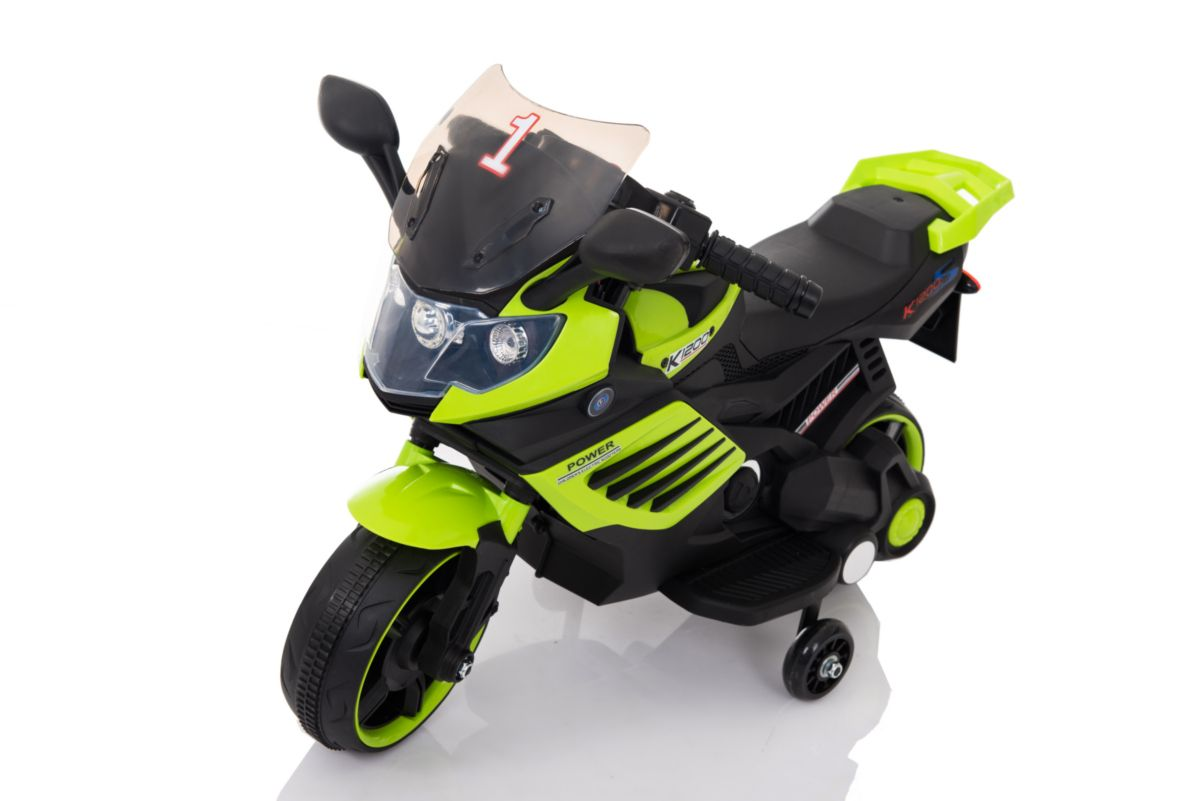 "Электромобиль ""Мотоцикл"" (на аккум., свет, звук), зеленый"