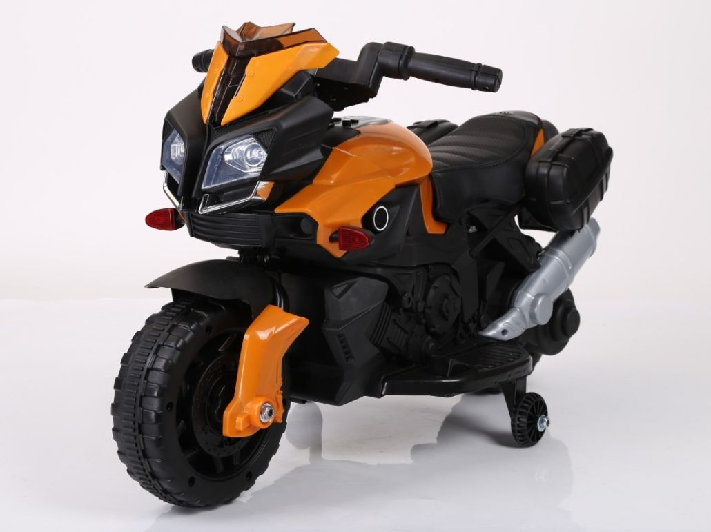 "Электромобиль ""Мотоцикл"" (на аккум., свет, звук), оранжевый"