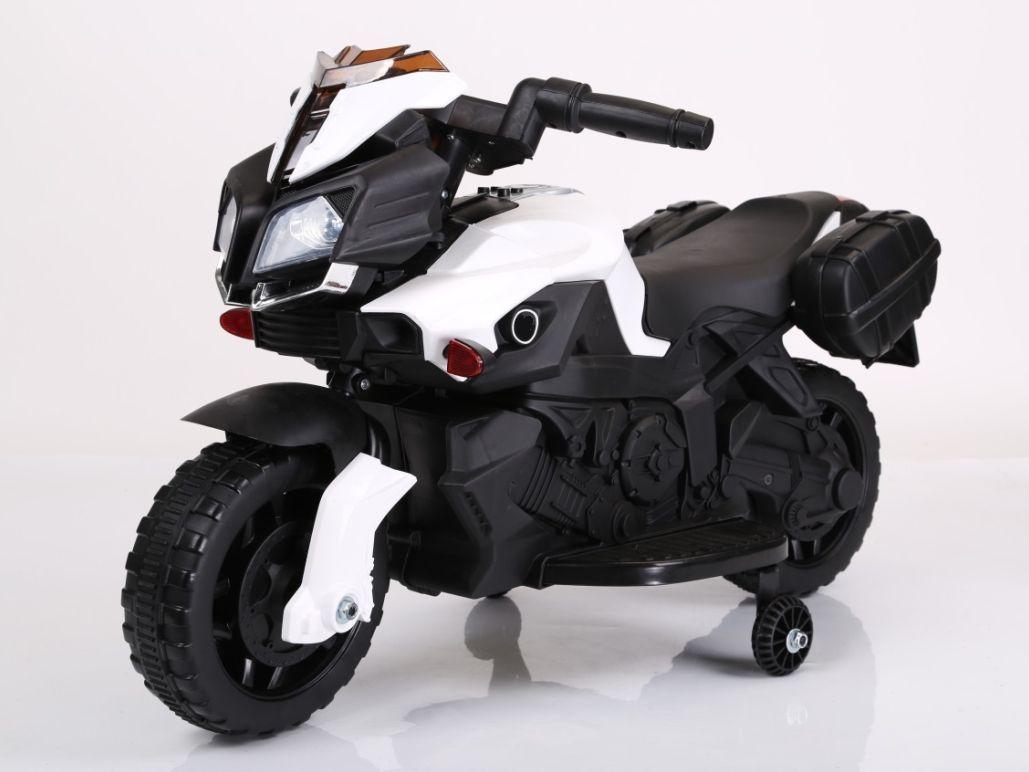 """Электромобиль """"Мотоцикл"""" (на аккум., свет, звук), белый"""