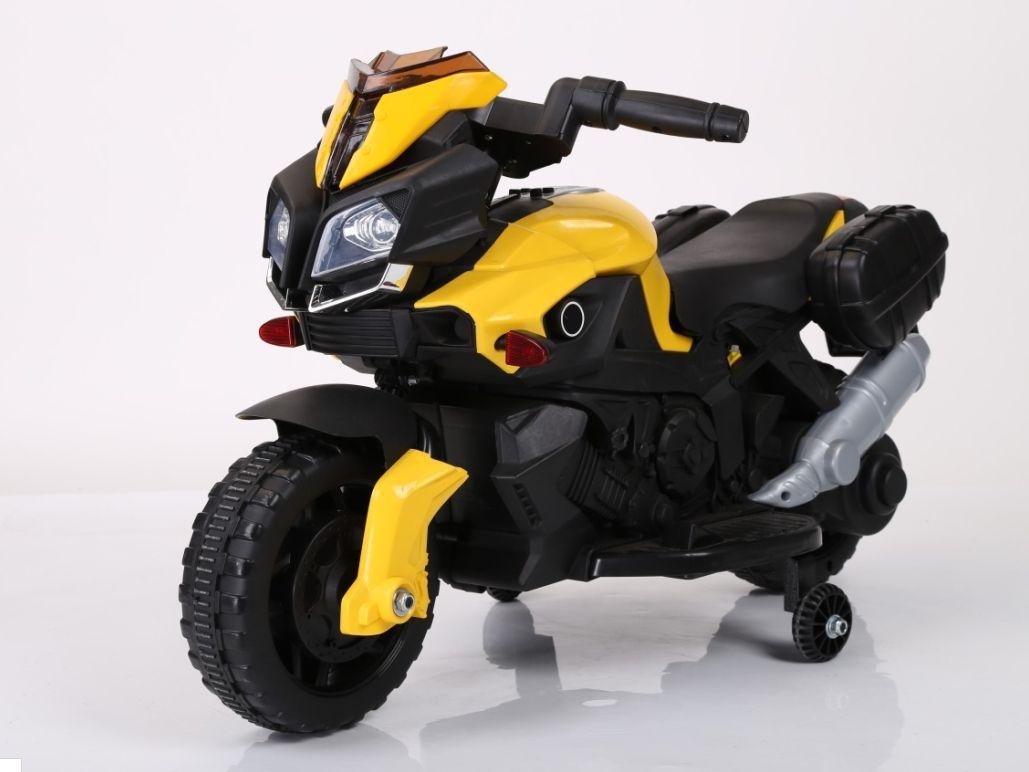 """Электромобиль """"Мотоцикл"""" (на аккум., свет, звук), желтый"""