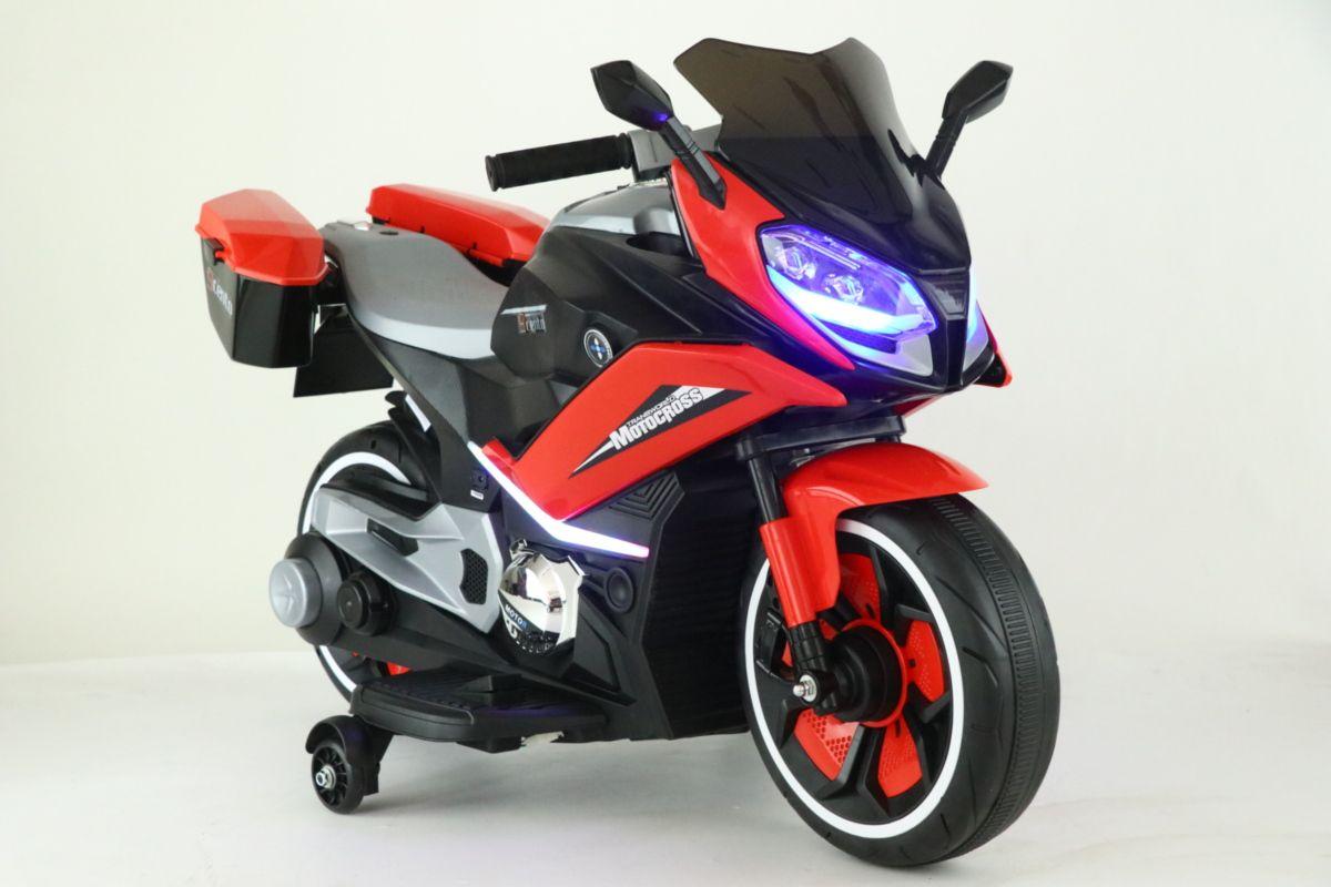 """Электромобиль для детей """"Мотоцикл"""" со светящимися фарами и звуком"""
