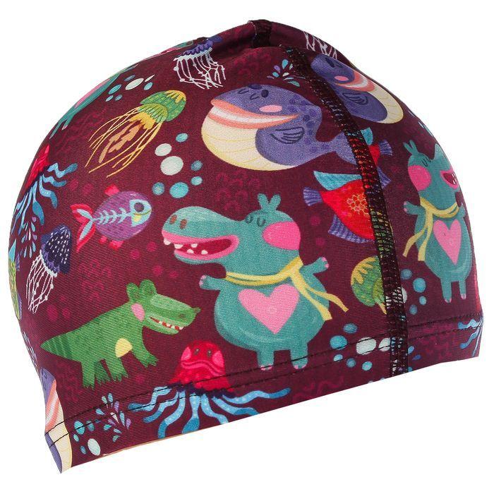 Шапочка для плавания «Морские животные» OL-011, детская, текстиль