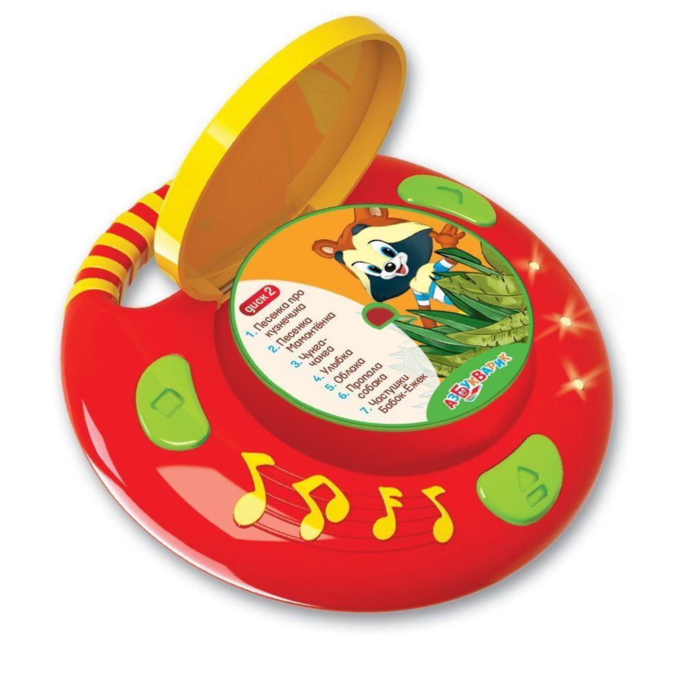 """Музыкальная игрушка """"CD-плеер с огоньками"""" - Песенки из мультиков"""