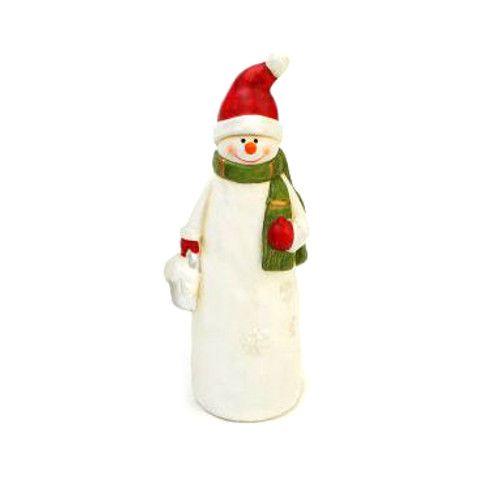 """Сувенир """"Снеговик"""" в красной шапке, 16 см"""