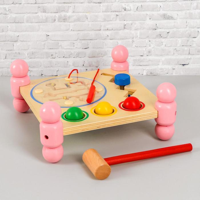"""Игрушка из дерева """"Логический столик"""" 12х26х26 см"""