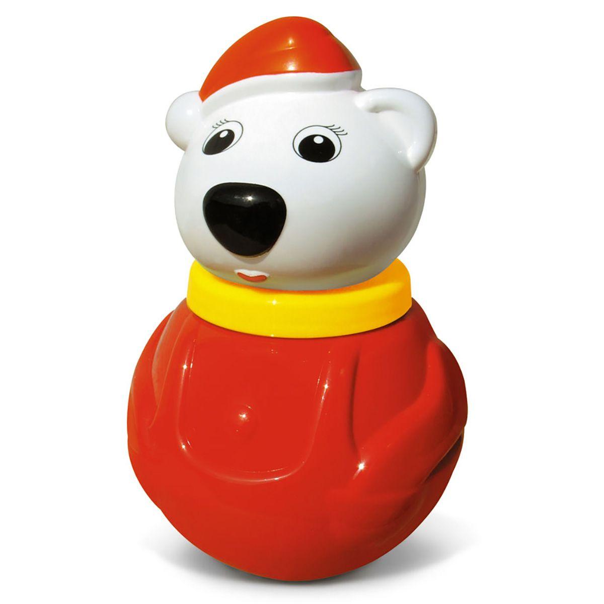 """Неваляшка малая """"Белый медведь - 2"""", в пакете"""