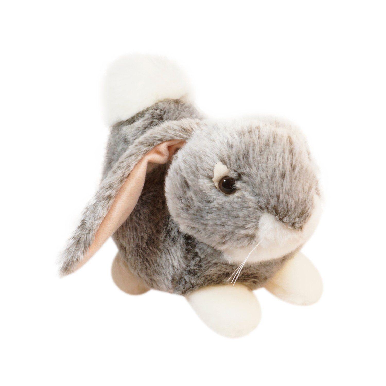 """Мягкая игрушка """"Лежащий кролик"""", 23 см, серый"""
