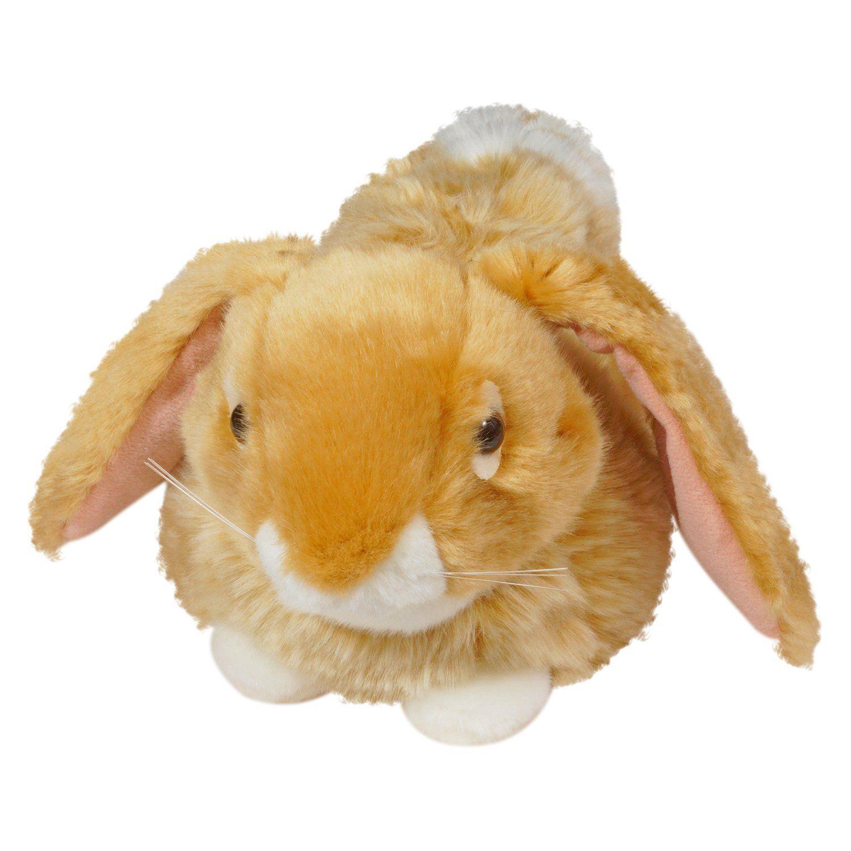 """Мягкая игрушка """"Лежащий кролик"""", 23 см, коричневый"""