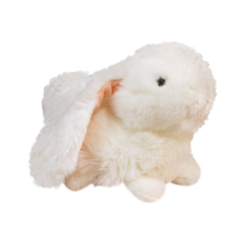 """Мягкая игрушка """"Лежащий кролик"""", 23 см, белый"""