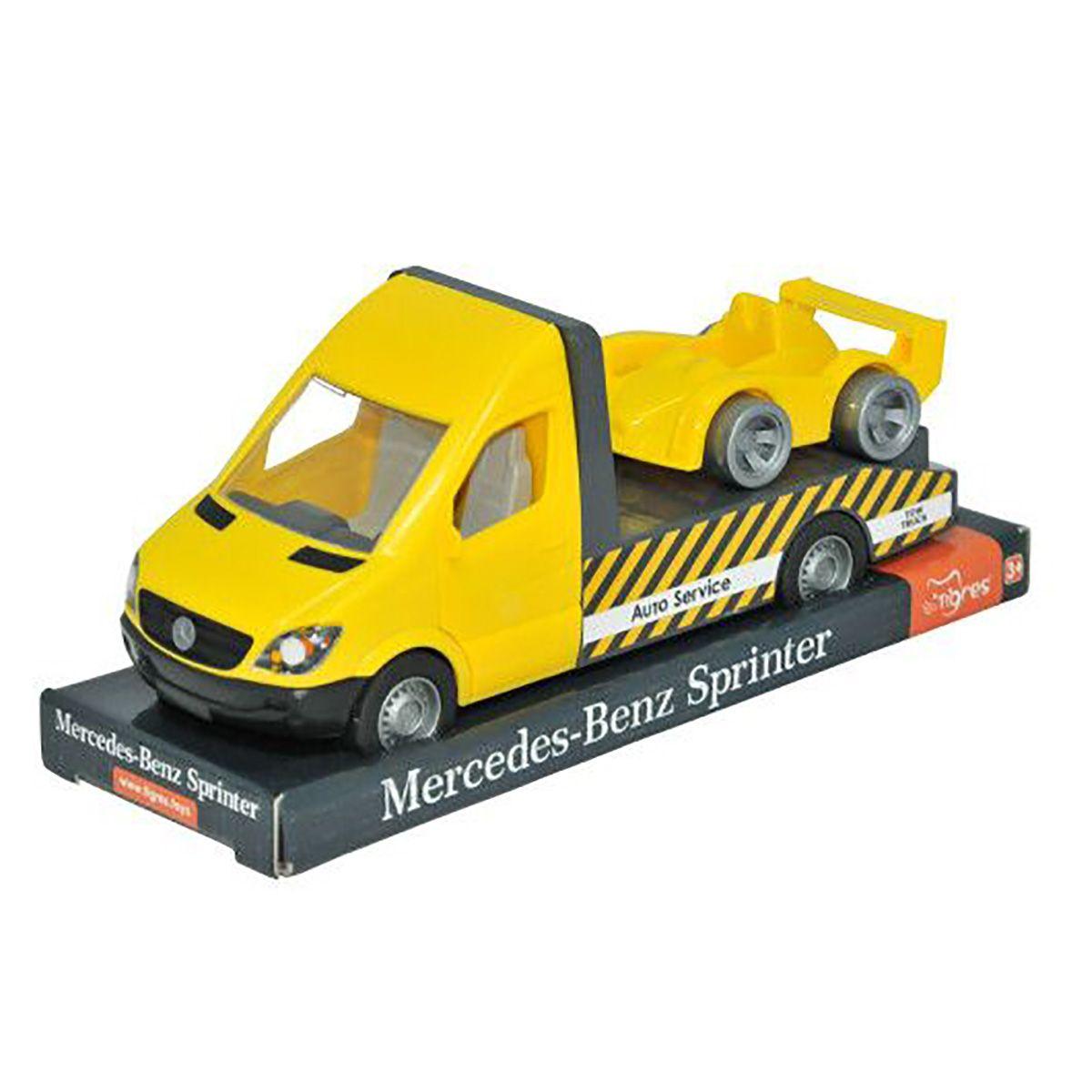 Автомобиль Mercedes Sprinter - Эвакуатор, желтый