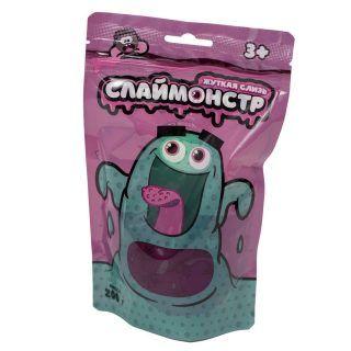 Жвачка для рук Nano Gum Monsters с фигурками насекомых, фиолетовая, 200 гр.