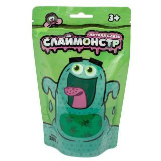 Жвачка для рук Nano Gum Monsters с фигурками насекомых, зеленая, 200 гр.