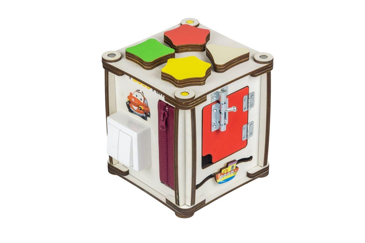 """Бизиборд """"Кубик Мультицвет"""", 17х17х18 см (свет)"""