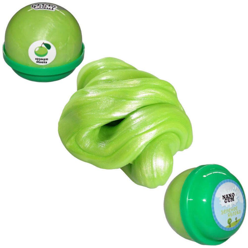 Жвачка для рук NanoGum - Зеленое яблоко, 25 гр.