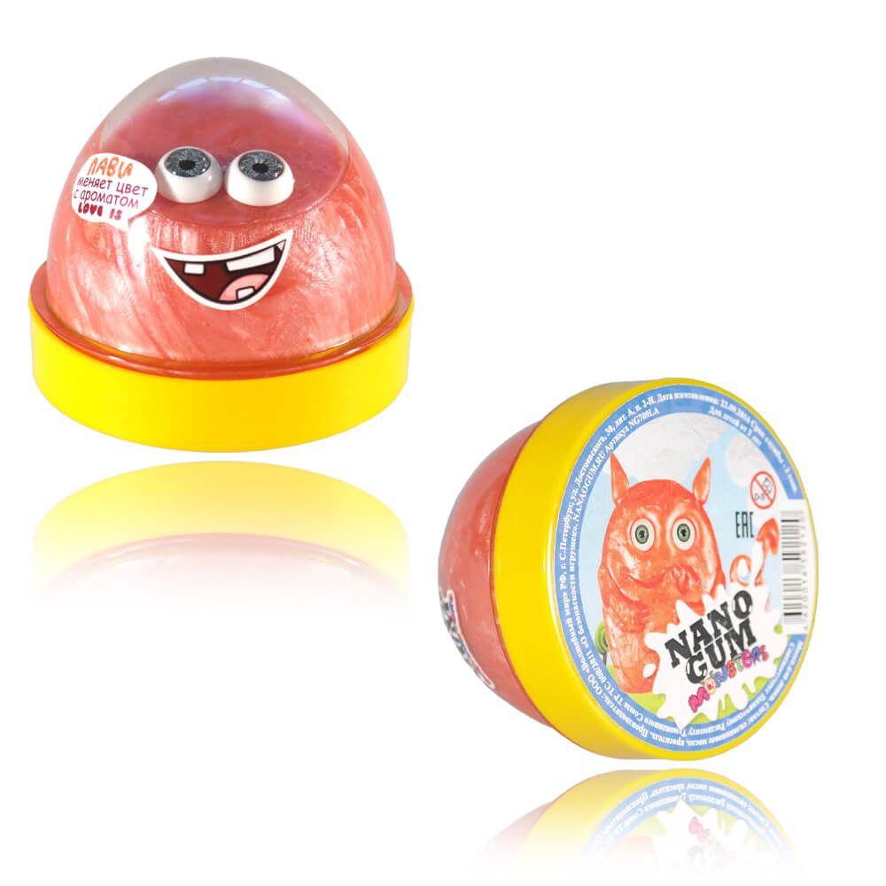 Жвачка для рук Nano Gum с ароматом Love Is - Лави (меняет цвет), 50 гр.