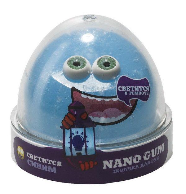 Жвачка для рук Nano Gum (светится в темноте), синяя, 50 гр.