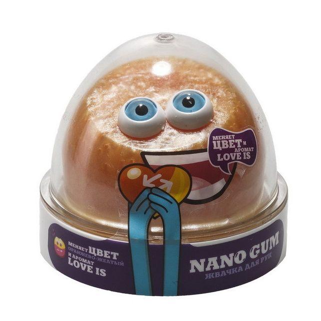 Жвачка для рук Nano Gum, оранжево-желтая, 50 гр.