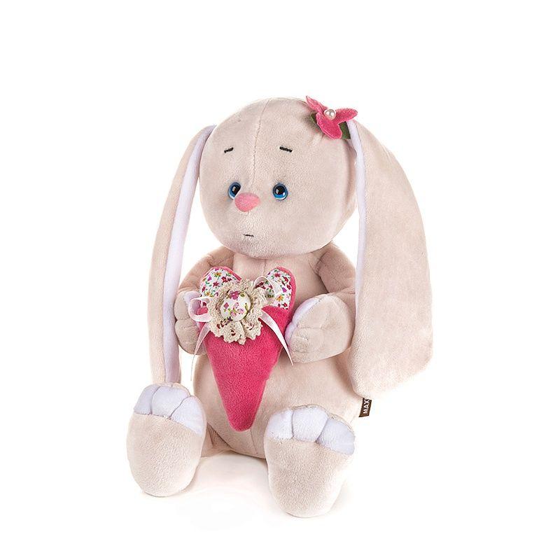 """Мягкая игрушка """"Романтичный Зайчик с розовым сердечком"""", 20 см"""