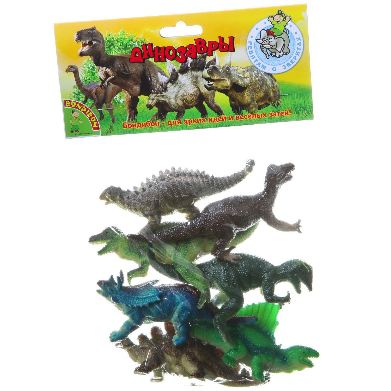 "Набор фигурок ""Ребятам о зверятах"" - Динозавры, 7 шт."