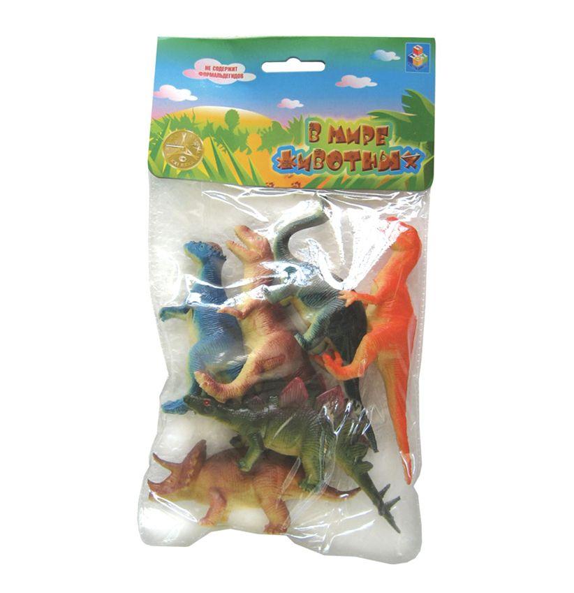 """Игровой набор """"В мире животных"""" - Динозавры, 6 шт."""