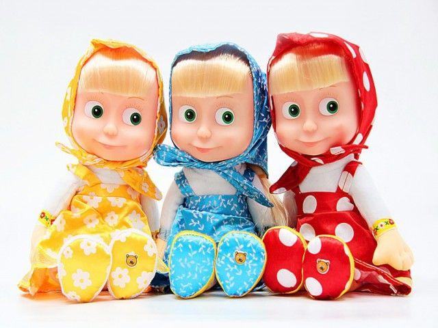"""Мягкая кукла """"Маша и Медведь"""" - Маша (звук)"""