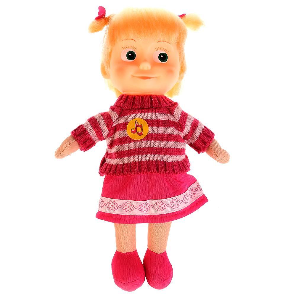 """Мягкая кукла """"Маша и медведь"""" - Маша в свитере (звук), 29 см"""