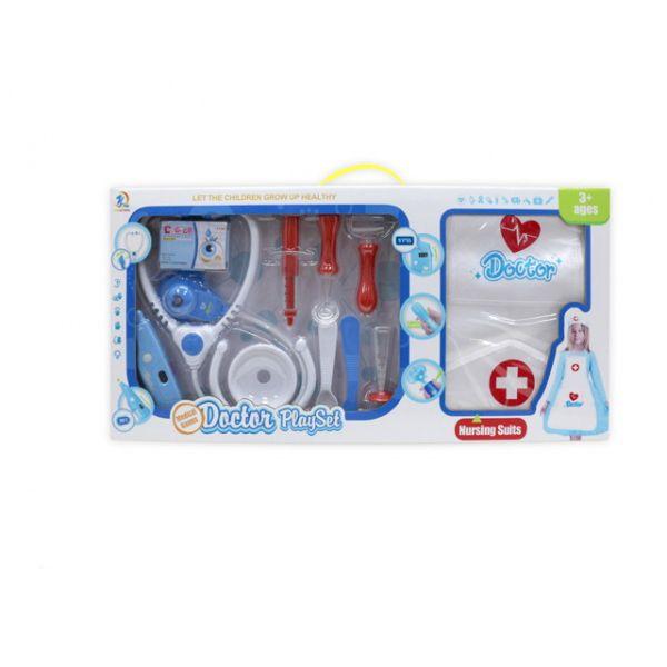 """Игровой набор """"Доктор"""" (свет, звук), синий, 11 предметов"""