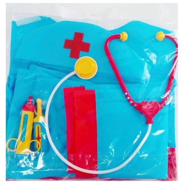 """Игровой набор """"Медик"""" (звук), голубой, 7 предметов"""