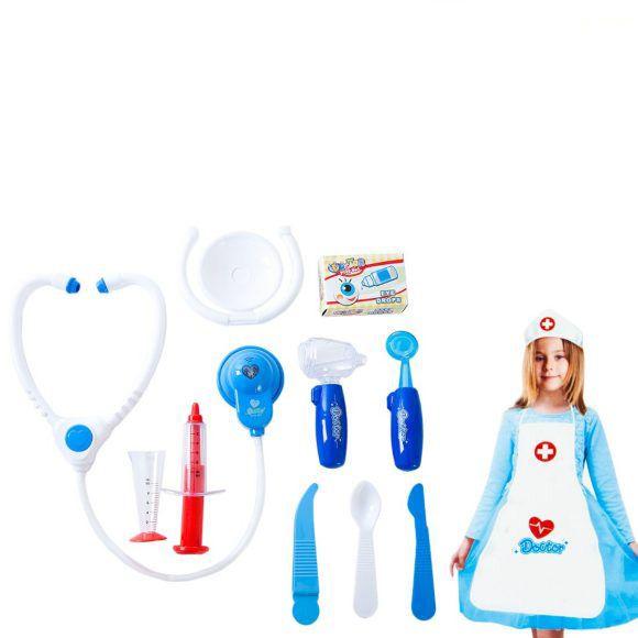 """Игровой набор """"Доктор"""", синий, (свет, звук), 11 предметов"""