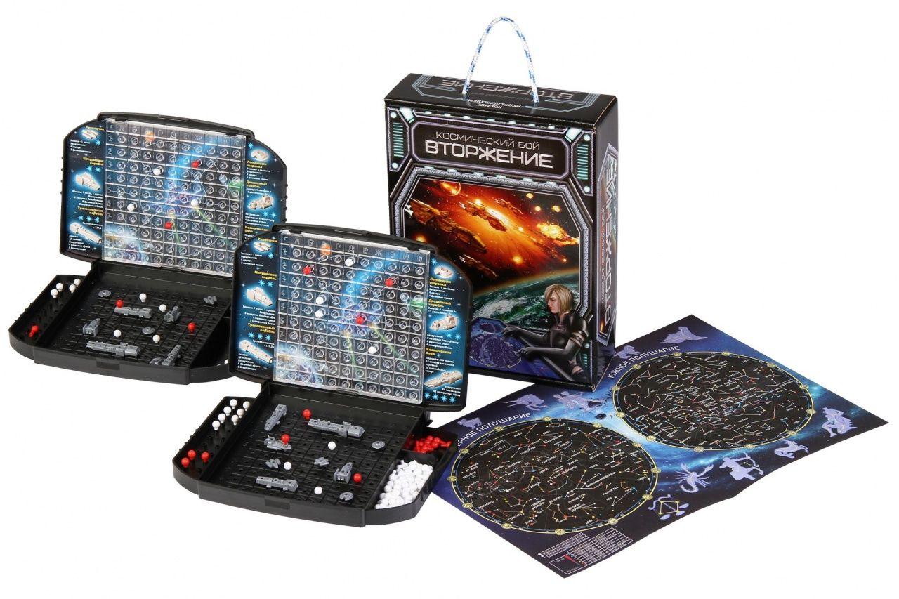 """Настольная игра """"Космический бой. Вторжение"""" с картой звездного неба"""