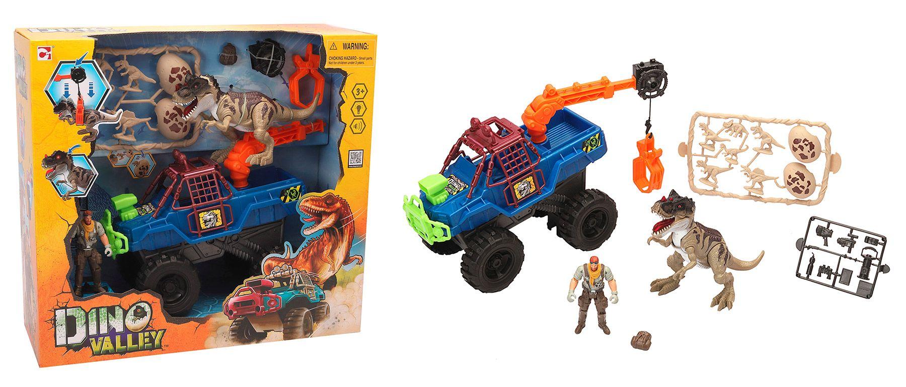 """Игровой набор """"Охотник на динозавра с грузовиком-ловушкой"""""""