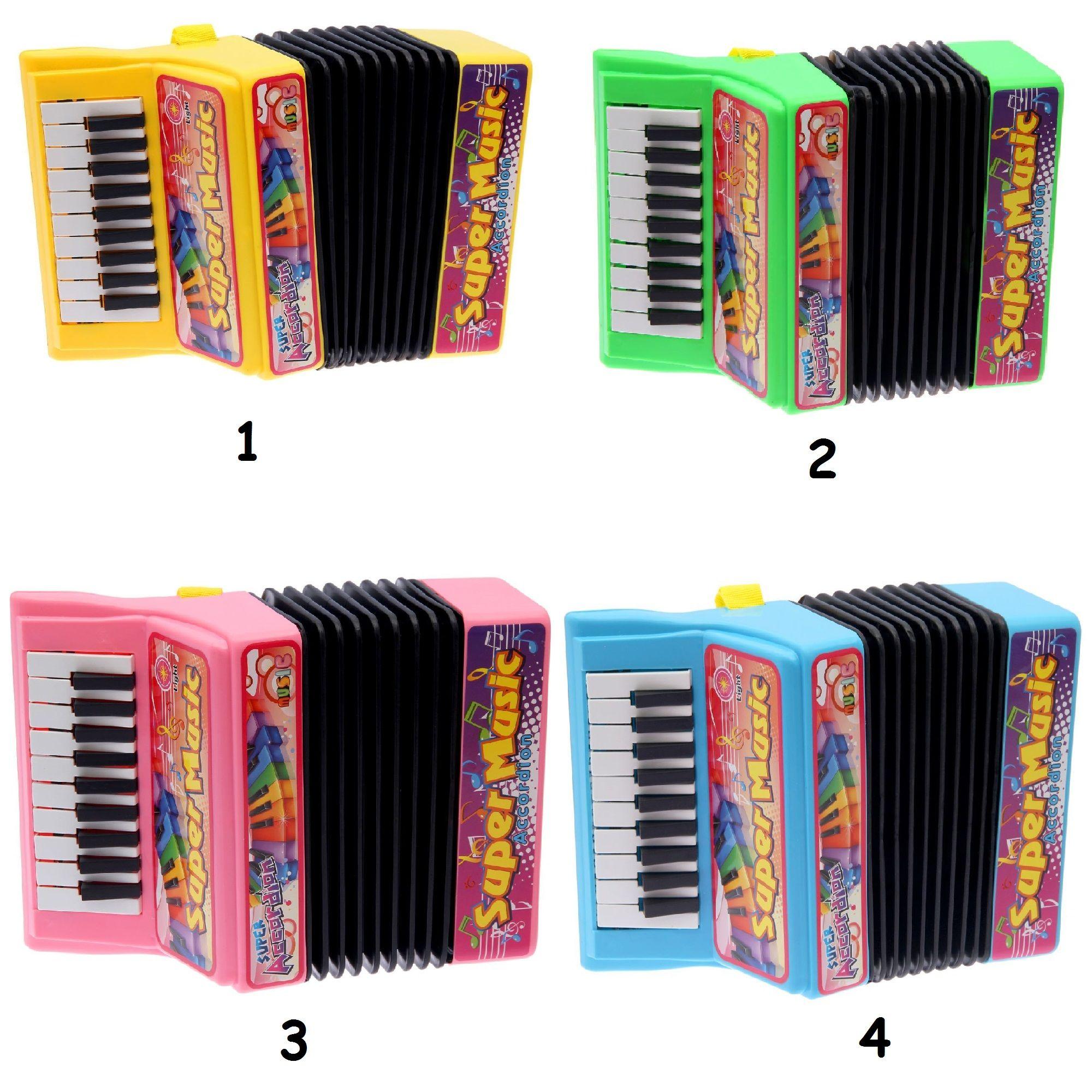 Музыкальная игрушка Super Music - Аккордеон (свет, звук), 10 мелодий