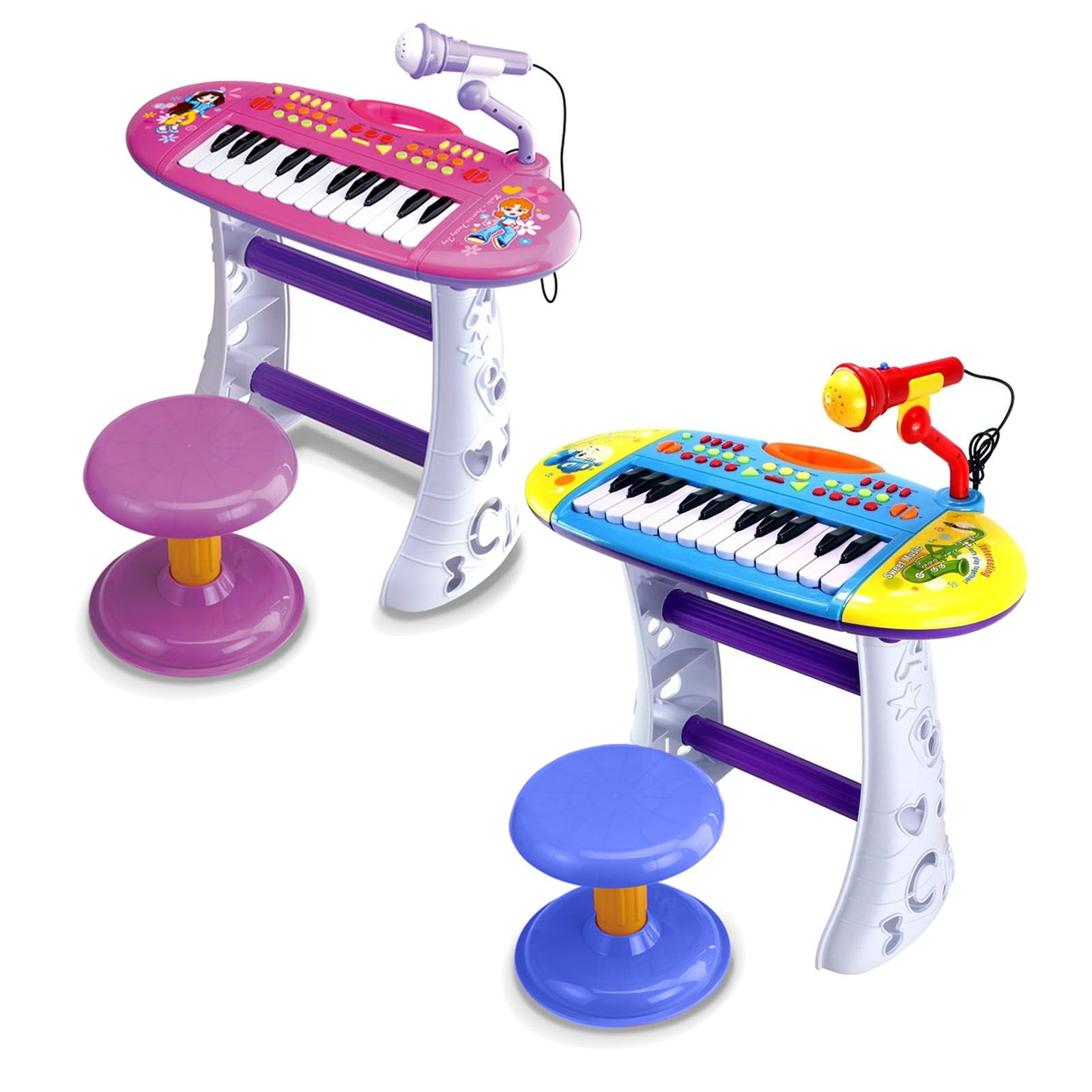 Детское пианино Portable Piano (свет, звук)