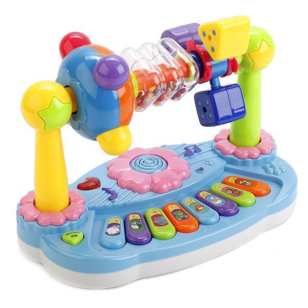 """Развивающая игрушка """"Пианино"""" с погремушками (свет, звук)"""