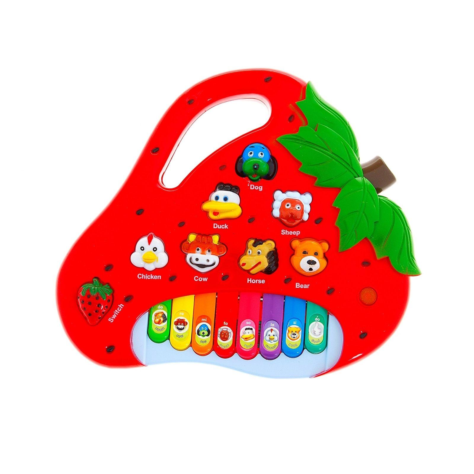 Детское электропианино Strawberry Piano (свет, звук)